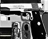 Colt Chrome & noir 9mm