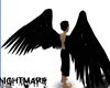 Black Arch Angel Wings