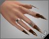 ~AK~ Nails: Silver/Mocha