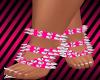 D! Pink spiked feet