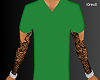 Green Vneck
