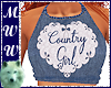 Cntry Girl Denim Halter