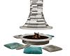 *MM* fireplace outside
