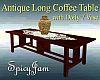 Antiq Long Table w/Vase