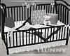 H. Black White Baby Crib