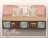 *KY* Blush Bedroom Bench