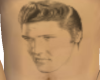 Elvis Belly Tattoo male
