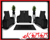 KyD Black/Gray Couch Set