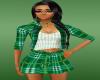 green schots dress