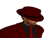 RED BLACK FEDORA