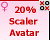 20% Scaler Avatar - F