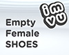 Empty Female Shoes