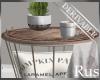 Rus:DER Basket End Table