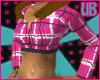 UB Plaid Pink Hoody