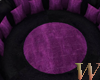 Black/Purple Round Couch