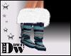 D- Knit Blue Boots