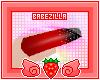 B | glitz nails. red