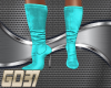 teal leather boots