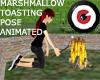 Mallow toasting pose