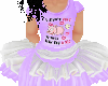 flat Purple Piggy tutu