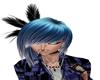 Blue White Hair