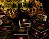 [AM] Leopard Sofa Set