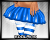 E~ X-mas Skirt Blue