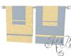 Blue Tan Towels