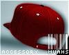 M! Tilted Snapback - Red