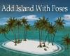 Add tropical white beach