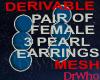 Fem 3 Pearl Earings Mesh