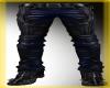 Black/Blue Leather Pants