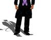 LXF Black wedding pant