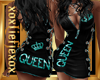 [L] QUEEN Teal Dress