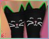 Rach*Kitty Socks - Green
