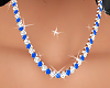Gold & Blue Necklaces