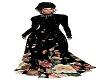 black rose saree lehenga