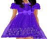 Flat Purple flower dress