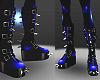 spikey blue boots