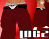 ::Red huelga Baggy Pants