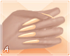 A| Long Orange Nails