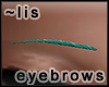Eyebrows: aqua