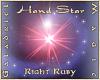 Hand Star  R Ruby