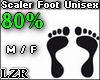 Scaler Foot Unisex 80%
