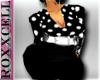 (classy Dress)Blk/Wh Del