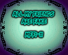 ALL MY FRIENDS ARE FAKE