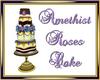 Amethyst Roses Cake