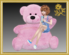 Xtra Pink Teddy Seat