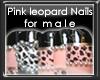 +vkz+ PinkLeopard Nails