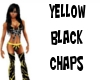 yellow/black chaps